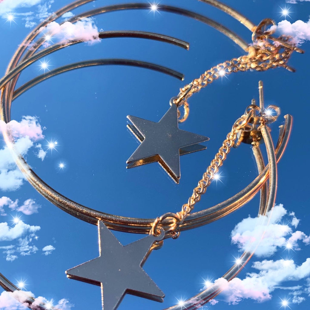 Golden Starlight Hoops