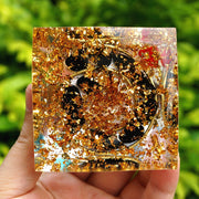 Orgonite Tiger Eye Black Tourmaline Pyramid