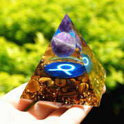 TAURUS Amethyst Tiger Eye Pyramid