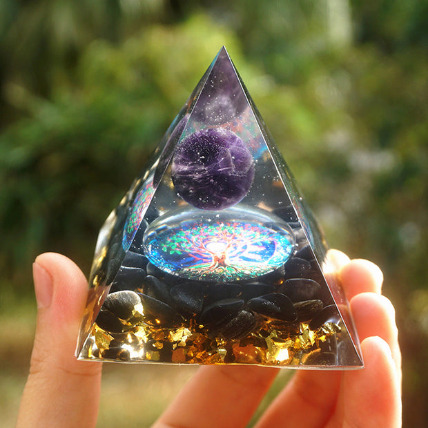 Orgonite Amethyst Crystal Pyramid