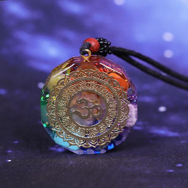 Orgonite Chakra Energy Necklace + FREE Pouch