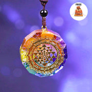 Orgonite 7 Chakra Energy Necklace + FREE Pouch