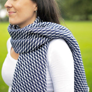 Bluefaced Leicester Wool Hovingham Midnight Wrap