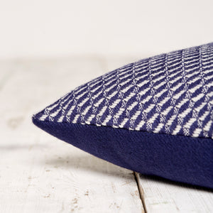 Bluefaced Leicester Wool Hovingham Midnight Lumbar Cushion