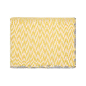 Bluefaced Leicester Wool Kirkham Mustard Throw