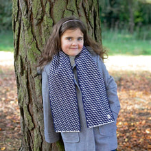 Load image into Gallery viewer, 'Mummy and Me' Hovingham Midnight Child's Wool Scarf