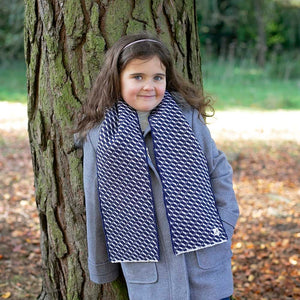 'Mummy and Me' Hovingham Midnight Child's Wool Scarf