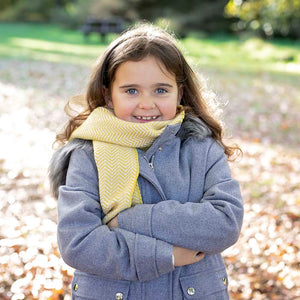 'Mummy and Me' Kirkham Mustard Child's Wool Scarf