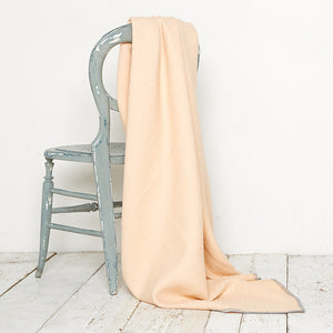 Bluefaced Leicester Wool Kirkham Peach Throw