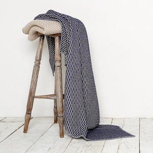 Bluefaced Leicester Wool Hovingham Midnight Throw