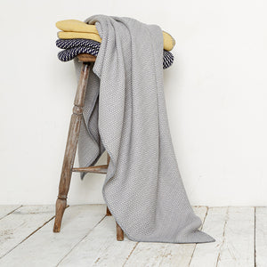 Bluefaced Leicester Wool Kirkham Limestone Throw