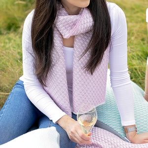 Bluefaced Leicester Wool Hovingham Rose Scarf