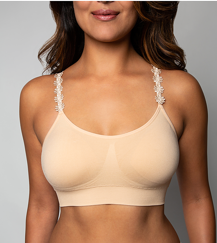 Bra With Flower Strap