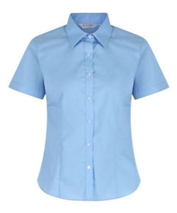 Blue Blouse Short Sleeved