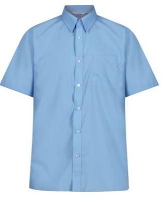 Blue Short Sleeved Shirt