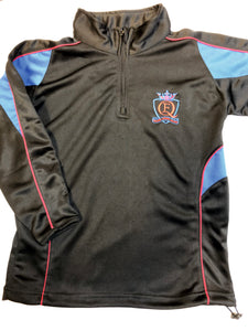 QE High Unisex 1/4 zip top