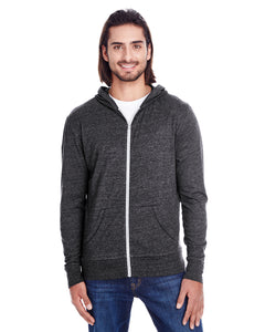 Adult Full Zip Hooded Sweatshirt - Threadfast Apparel Brand - LIGHTWEIGHT