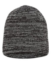 "Load image into Gallery viewer, 8"" Marbled Knit Beanie - H logo emboidered"
