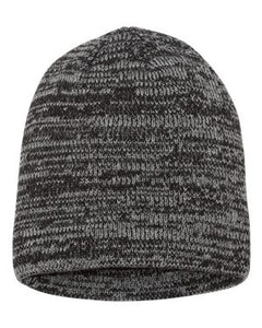 "8"" Marbled Knit Beanie - H logo emboidered"