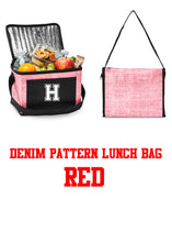 "Load image into Gallery viewer, Lunch Bag - insulated & printed with Halb ""H"" on front - 2 colors to choose from"