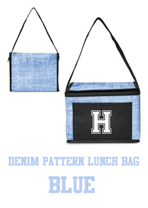 "Lunch Bag - insulated & printed with Halb ""H"" on front - 2 colors to choose from"