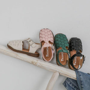 Classic Weave Leather Sandals - MyKiddee