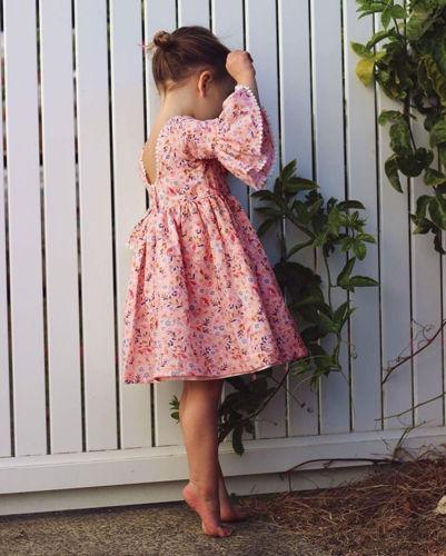 Boho Summer Floral Dress - MyKiddee