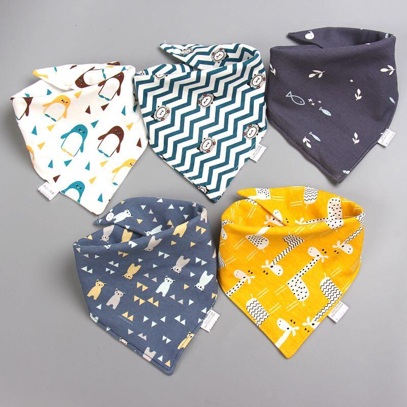 100% Cotton Baby Bibs with Double Layer (5 bibs per pack) - MyKiddee