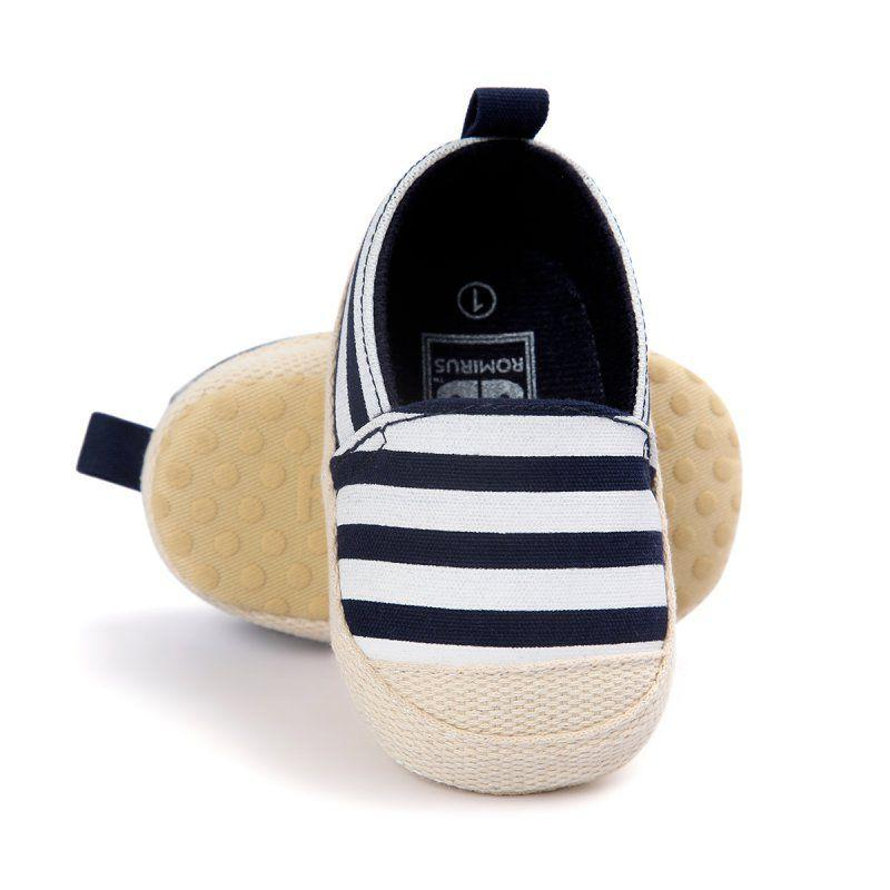 Slip on Stripe Baby Shoes - MyKiddee