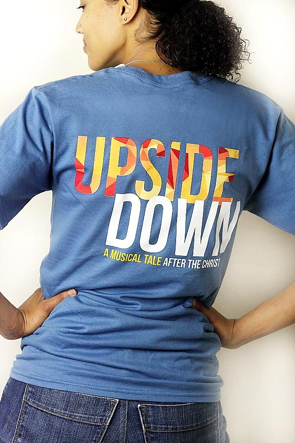 UPSIDEDOWN Blue T-Shirt - Disciple Today Media Store