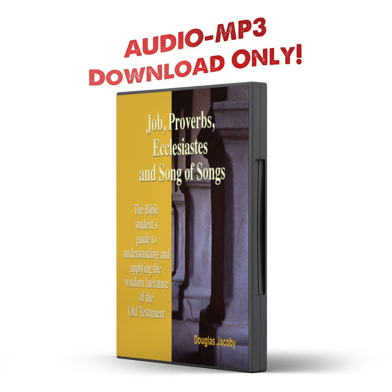 Job, Proverbs, Ecclesiastes and Song of Songs - Disciple Today Media Store