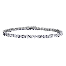 1.00 CARAT DIAMOND BRACELET, 10KT WHITE GOLD…...................NOW