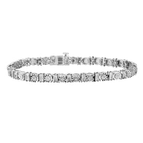 .30 CARAT DIAMOND BRACELET, SILVER.....................NOW