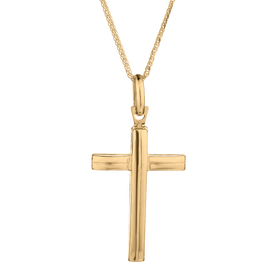 10kt YELLOW GOLD FANCY ITALIAN CROSS, WITH 10kt YELLOW GOLD CHAIN..............NOW