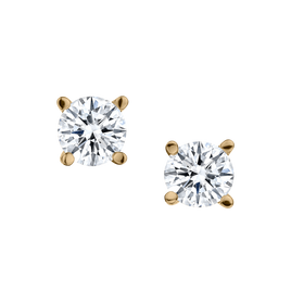 .75 CARAT DIAMOND STUD EARRINGS, 14kt YELLOW GOLD.....................NOW