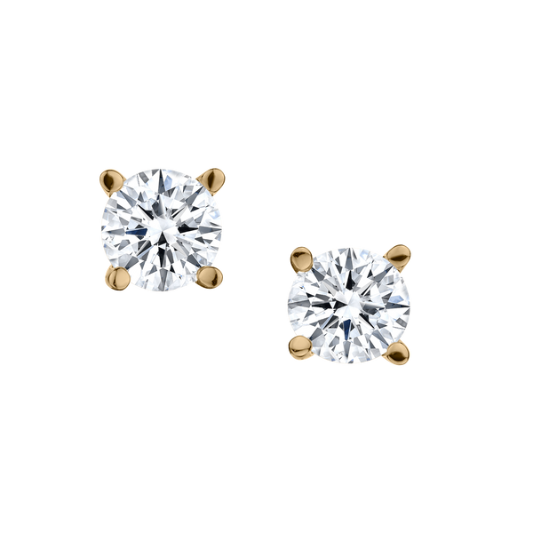 .50 CARAT DIAMOND STUD EARRINGS, 14kt YELLOW GOLD.................NOW