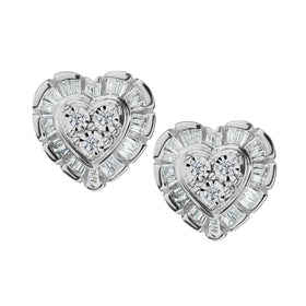 .20 CARAT DIAMOND HEART EARRINGS, 10kt WHITE GOLD….....................NOW