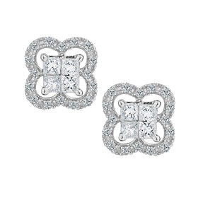 .35 CARAT DIAMOND STUD EARRINGS, 10kt WHITE GOLD....................NOW