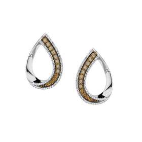 .10 CARAT WHITE & CHAMPAGNE DIAMOND EARRINGS, SILVER….............................NOW