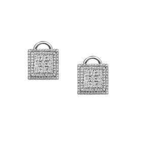 .10 CARAT DIAMOND EARRINGS WITH OMEGA BACKINGS, SILVER….............................NOW