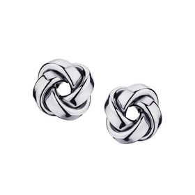 10kt WHITE GOLD, LOVE KNOT EARRINGS..............NOW
