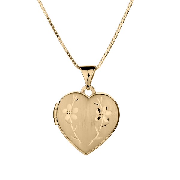 HEART LOCKET PENDANT, 10kt YELLOW GOLD, WITH 10kt YELLOW GOLD CHAIN.........................NOW