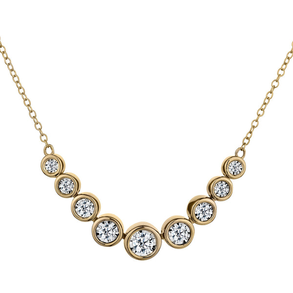 .50 CARAT DIAMOND NECKLACE, 10kt YELLOW GOLD...................NOW