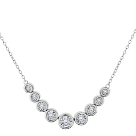 .50 CARAT DIAMOND NECKLACE, 10kt WHITE GOLD….....................NOW