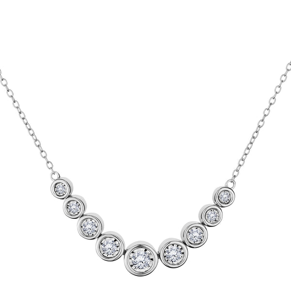 .50 CARAT DIAMOND NECKLACE, 10kt WHITE GOLD….............................NOW