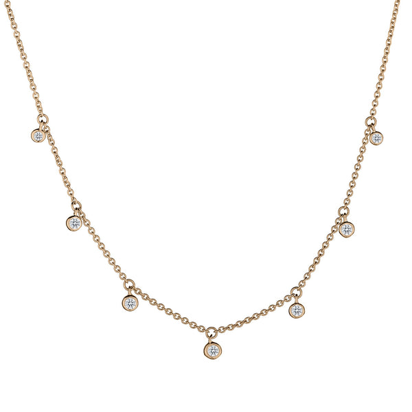 .17 CARAT DIAMOND NECKLACE, 10kt YELLOW GOLD...................NOW