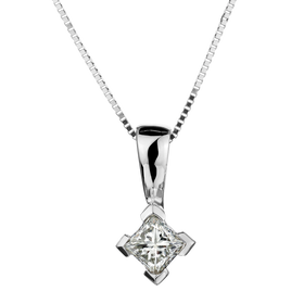 .22 CARAT CANADIAN PRINCESS DIAMOND PENDANT, 10kt WHITE GOLD, WITH 10kt WHITE GOLD CHAIN....................NOW