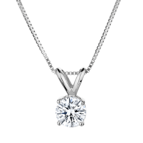 .50 CARAT CANADIAN DIAMOND PENDANT, 14kt WHITE GOLD, WITH 14kt WHITE GOLD CHAIN....................NOW