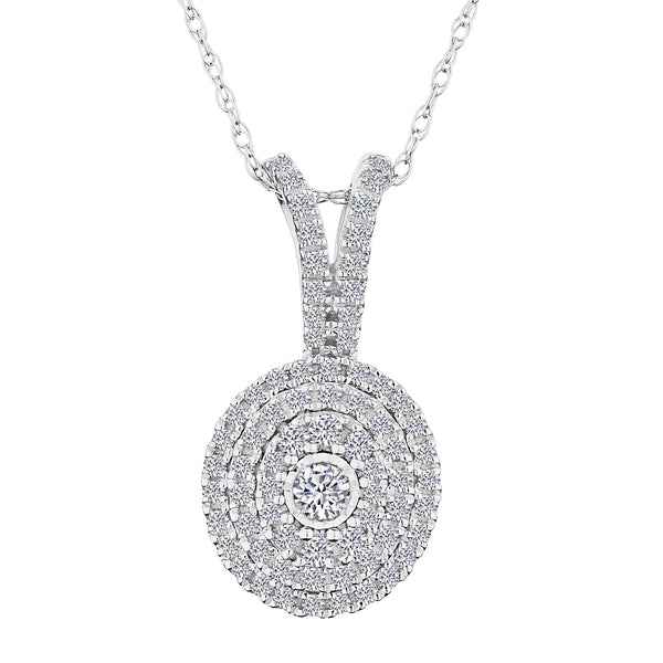 .33 CARAT DIAMOND PAVE PENDANT WITH HALO, 10kt WHITE GOLD, WITH 10kt WHITE GOLD CHAIN…...................NOW
