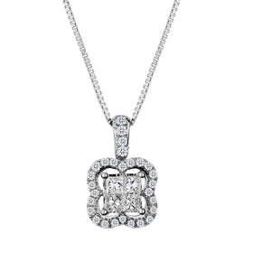 .33 CARAT DIAMOND PENDANT, 10kt WHITE GOLD, WITH 10kt WHITE GOLD CHAIN….............................NOW